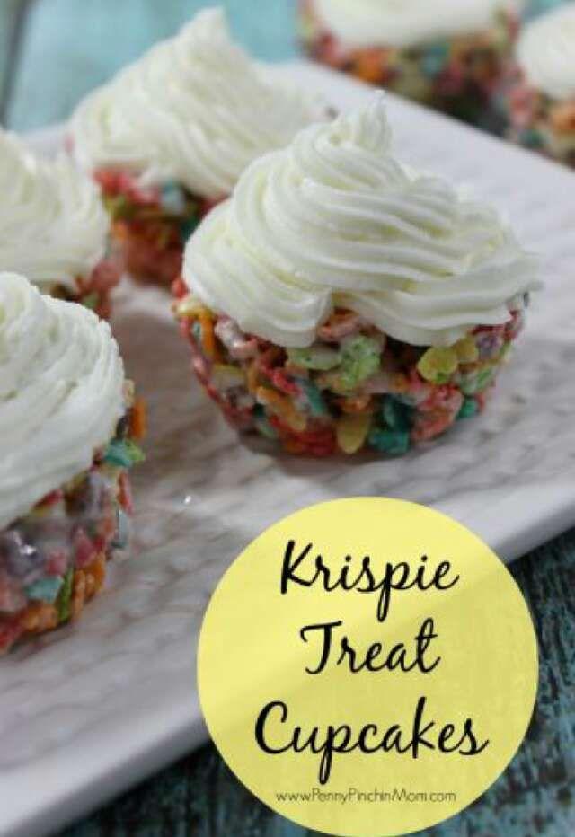 Krispy Treat Cupcakes!!#Food&Drink#Trusper#Tip