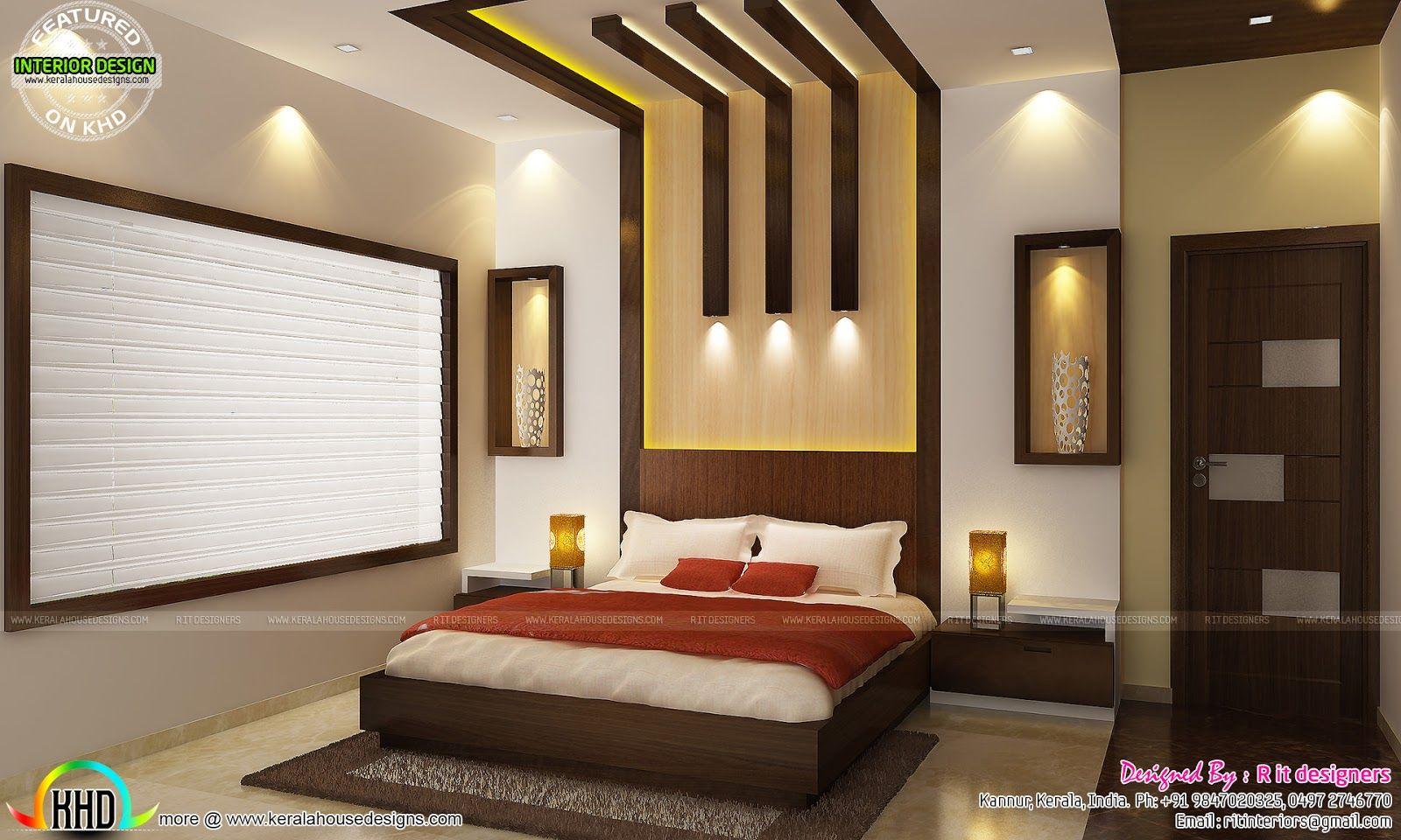 Beautiful Houses Bedroom Interior In Kerala Home Combo By Luxury Interiors Of Bedrooms Room Design Bedroom Bedroom False Ceiling Design Ceiling Design Bedroom