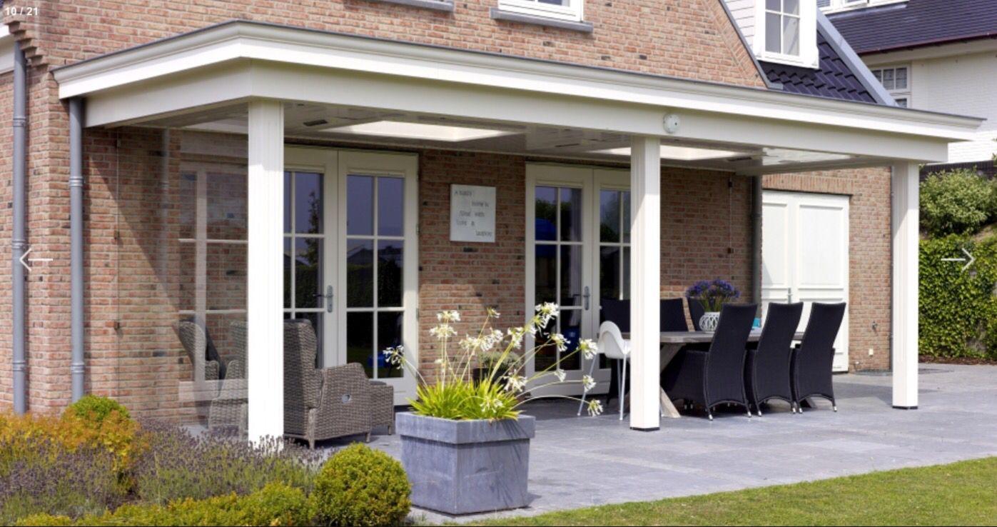 Overkapping met lichtkoepel scheelt in huis ook terrasoverkapping pinterest met - Huis met veranda binnenkomst ...