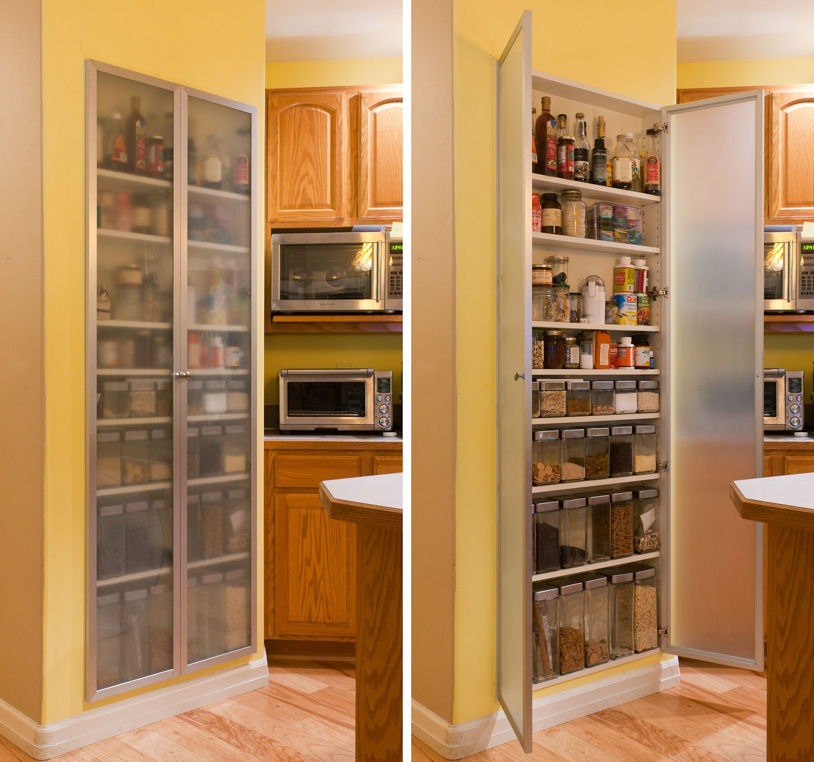 In Wall Storage Ideas Cool And Practical Pantry Cabinet Design Ideas Simple Long Wooden