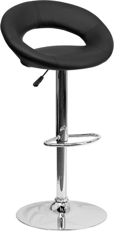 Flash Furniture DS 811 BK GG Contemporary Black Vinyl Rounded Back