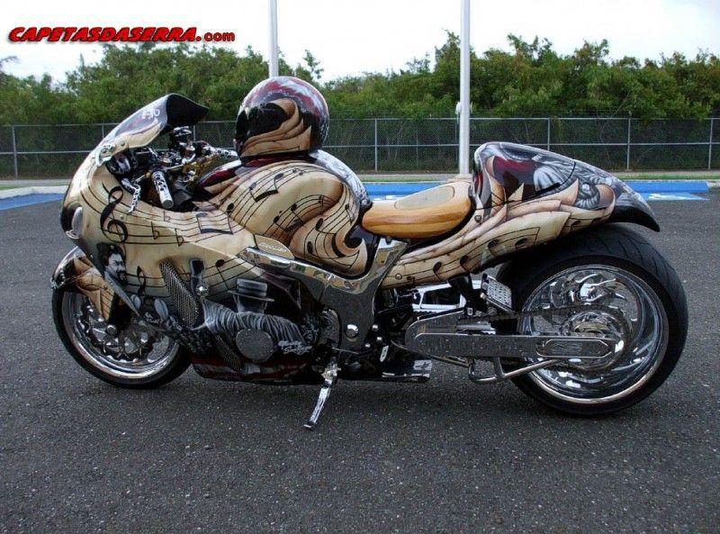 Fotos De MOTOS Videos   Suzuki Hayabusa Tunada Com Motor Turbo