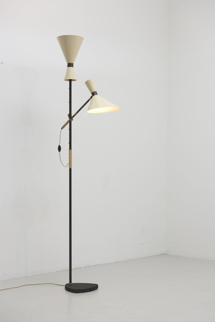 J T Kalmar Pelican Kalmar Werkstatten Austria 1950 S Lamp Floor Lamp Yellow Floor Lamps