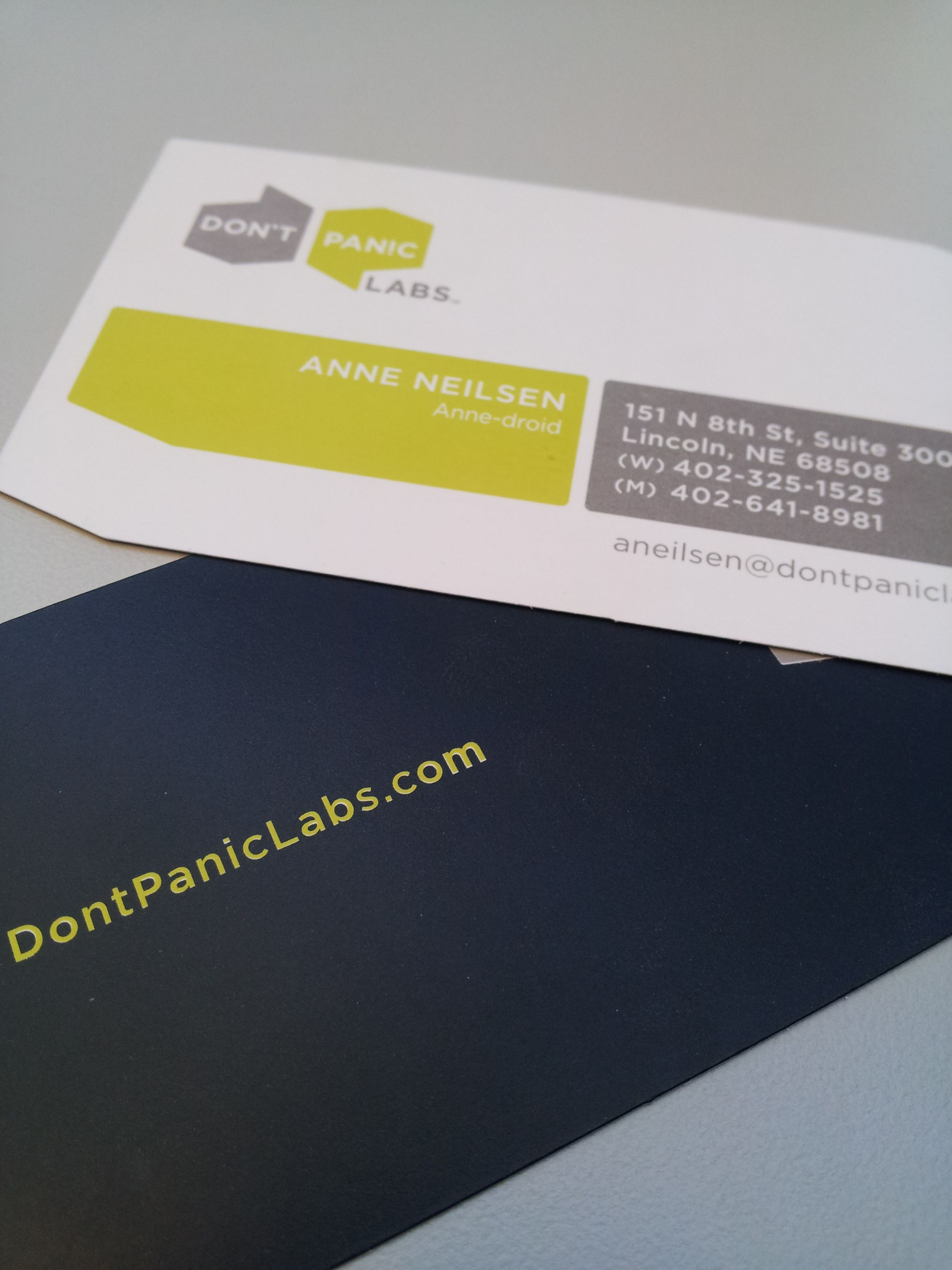 Don\'t Panic Labs | Business Cards | Pinterest