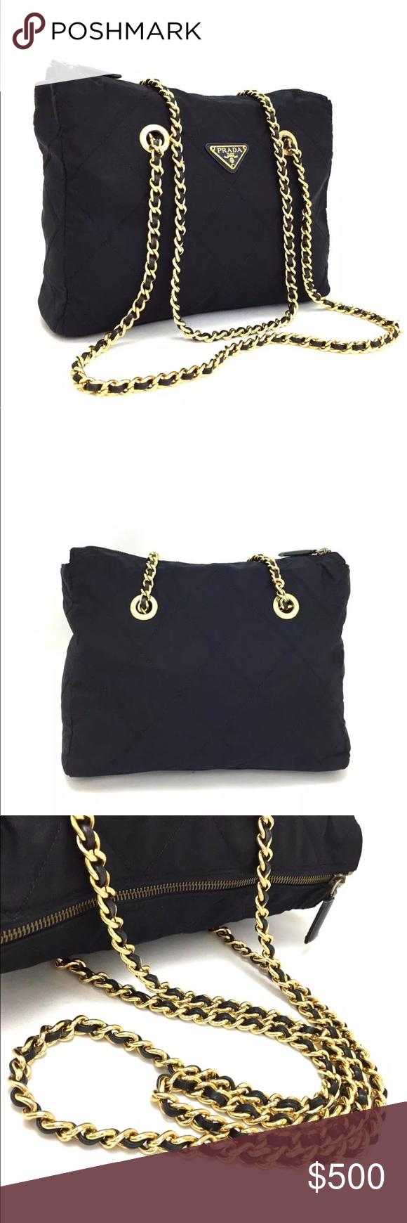 9637157a983b Prada logos quilted matelasse navy shoulder bag □Serial Number / Date Code  : n/
