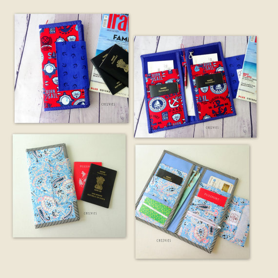 Family Passport Travel Holder PDF SEWING PATTERN, Hold 6