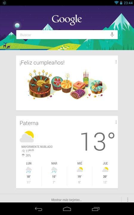 Feliz Cumpleaños de Google Now!!!
