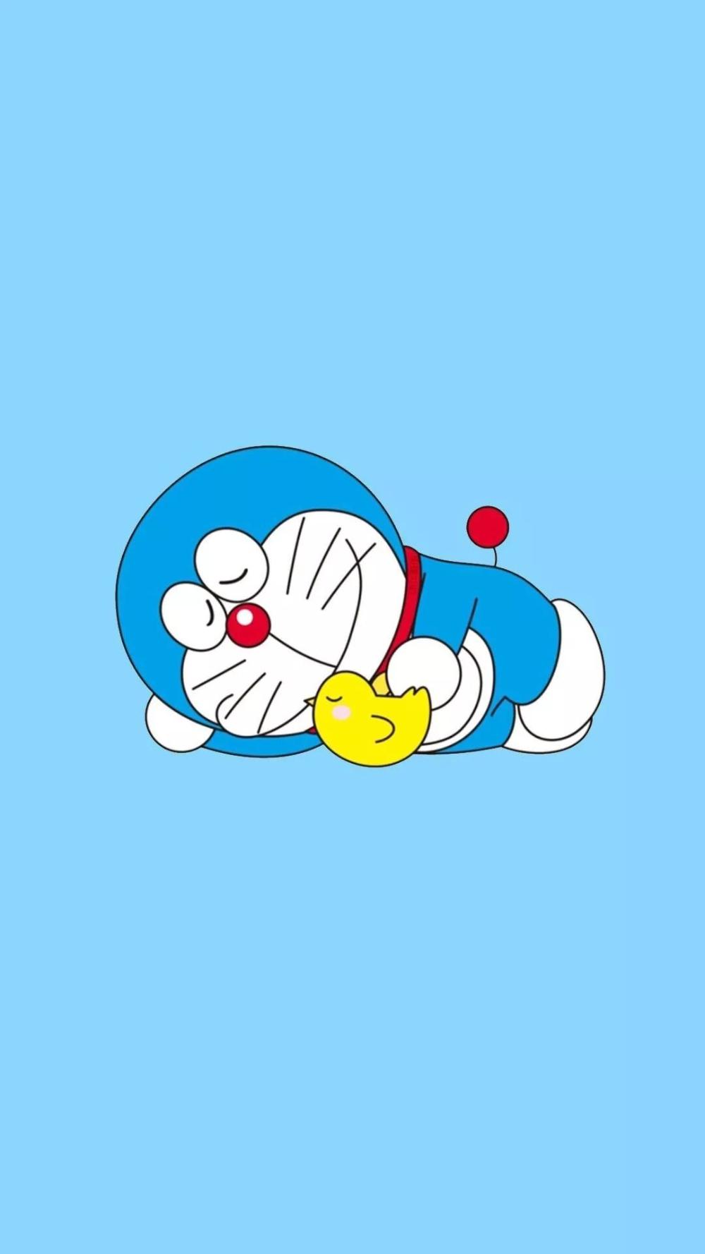 Cute Blue Doraemon Wallpaper For Iphone