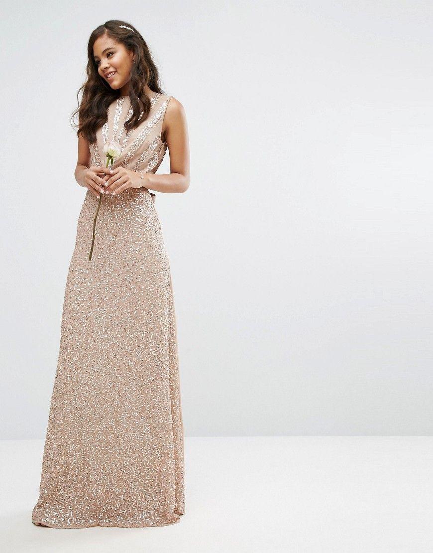 Maya tall embellished maxi dress with bow back pink maya maxi