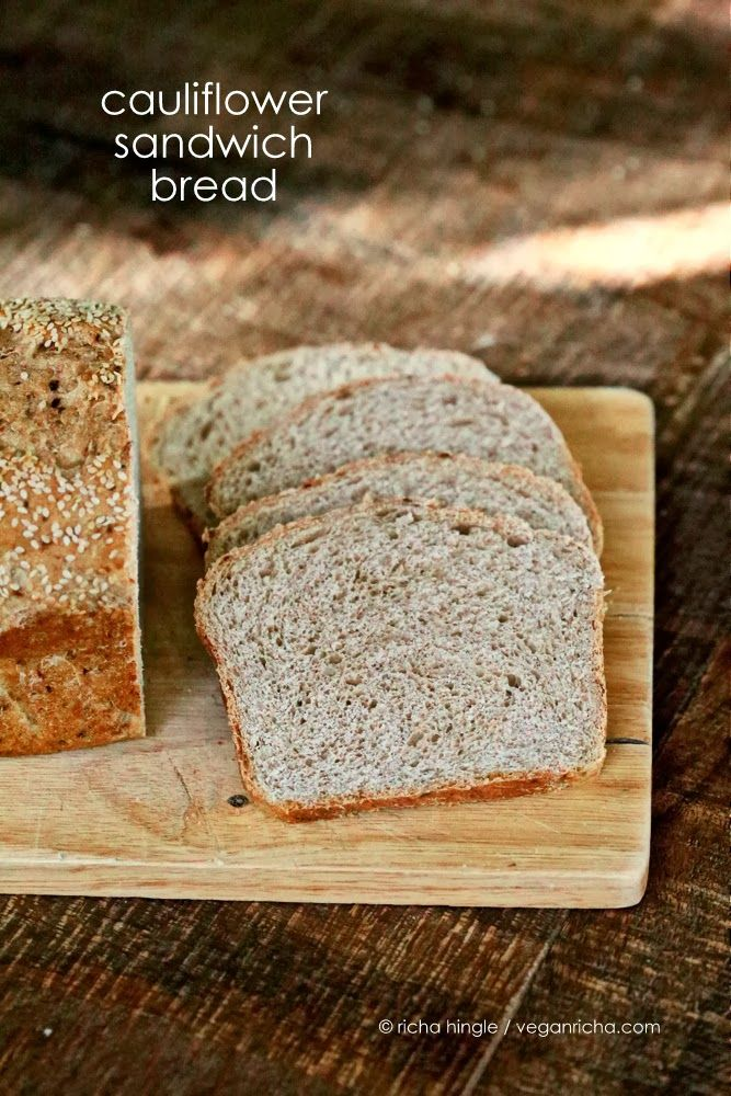 Cauliflower Sandwich Bread Loaf Vegan Recipe Summer Squash