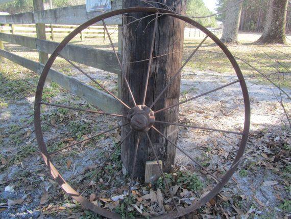 Antique Wagon Wheel Metal Wheel Iron Works By Karenschicnshabby