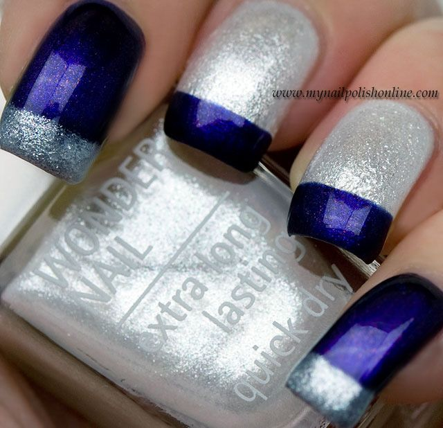 Guest Post at Eleven.se | Nail nail, Silver nail and Blue nails