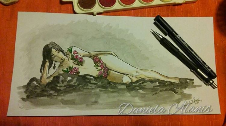 Mujer Mi arte/my arte #arte #art #artistoninstagram #artistontumblr #artista #artist #illustration #ilustracion