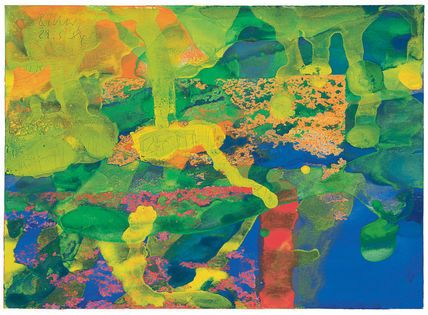 """Gerhard Richter Ohne Titel (29.5.84) Oil and watercolour on paper ; 1984 ; 13 x 18 cm ; 5 1/8 x 7 1/8 """" Signed and """"29.5.84"""" dated"""