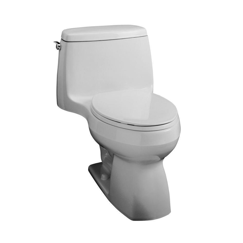 Kohler Santa Rosa Comfort Height 1 Piece 1 28 Gpf Ice Grey Compact