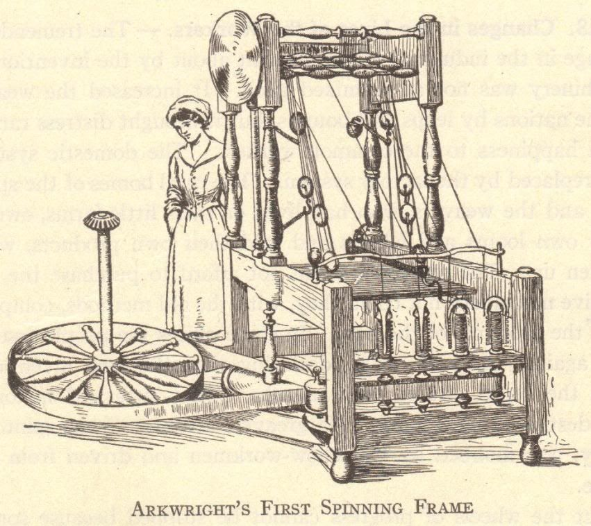 Richard Arkwright\'s Spinning Frame | Pictures and Illustrations in ...