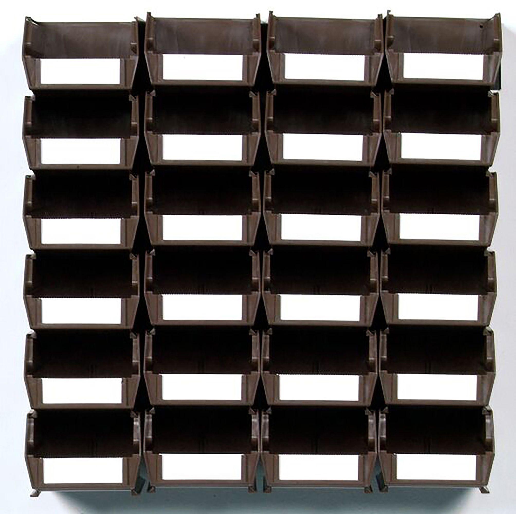 Triton Locbin 24 Bin Wall Storage With Rails Brown, Model# 3