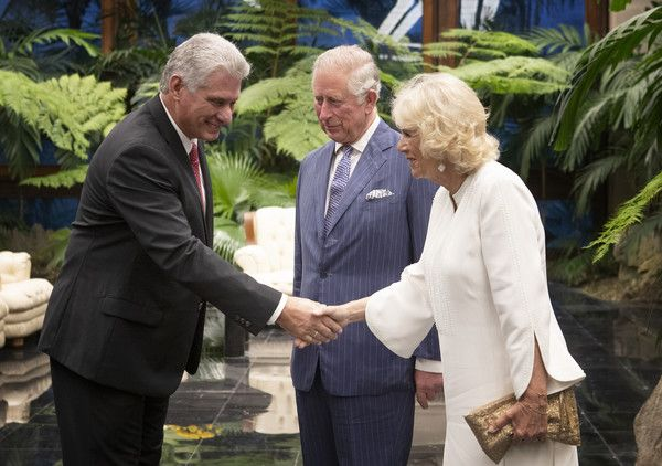 Camilla Parker Bowles and President Miguel Diaz-Canel Photos Photos: The Prince Of Wales And Duchess Of Cornwall Visit Cuba #visitcuba