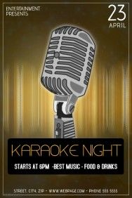 Karaoke Night Flyer Template  Karaoke Flyer Template
