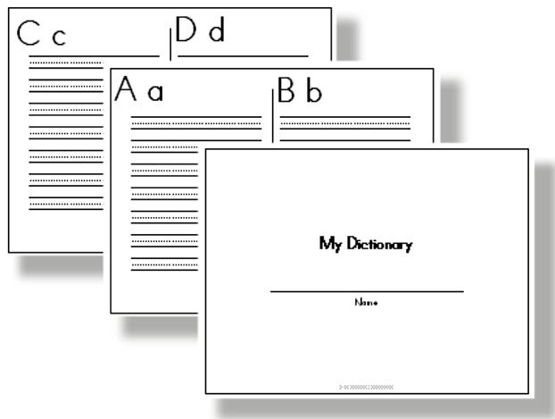printable student dictionaries instead of a word wall let your students make their own list of. Black Bedroom Furniture Sets. Home Design Ideas