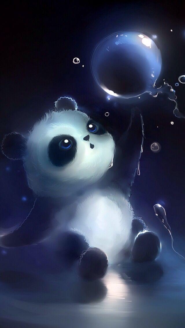 Panda Wallpaper Background Imut Panda