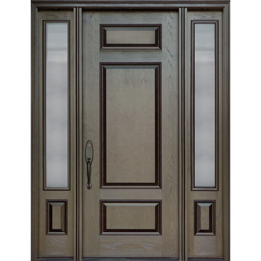 Exterior Fiberglass Door Single Door With Two Sidelights Model Fr24 Fiberglass Entry Doors Fiberglass Exterior Doors Traditional Front Doors