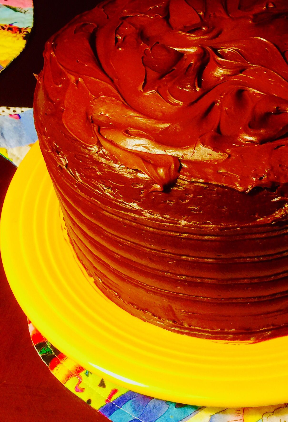 Doublefudge mayo cake with dutch cocoa frosting fudge