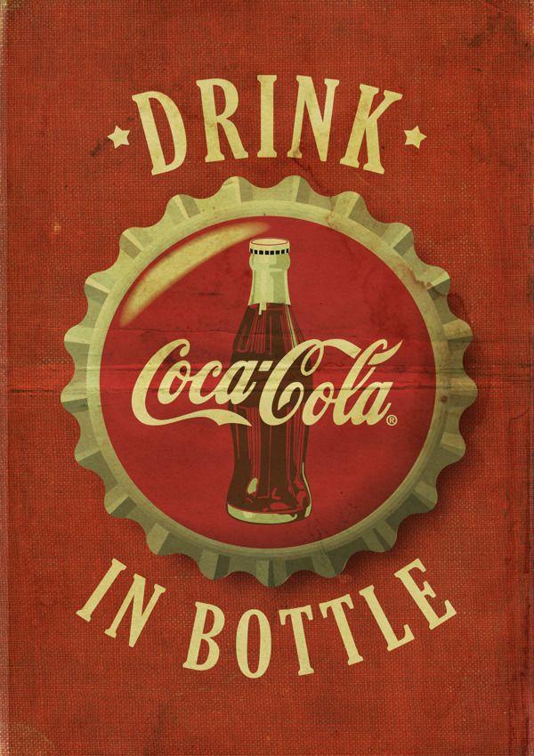 Bekend Coca Cola ® - Vintage posters by Kareem Gouda, via Behance  #VB25