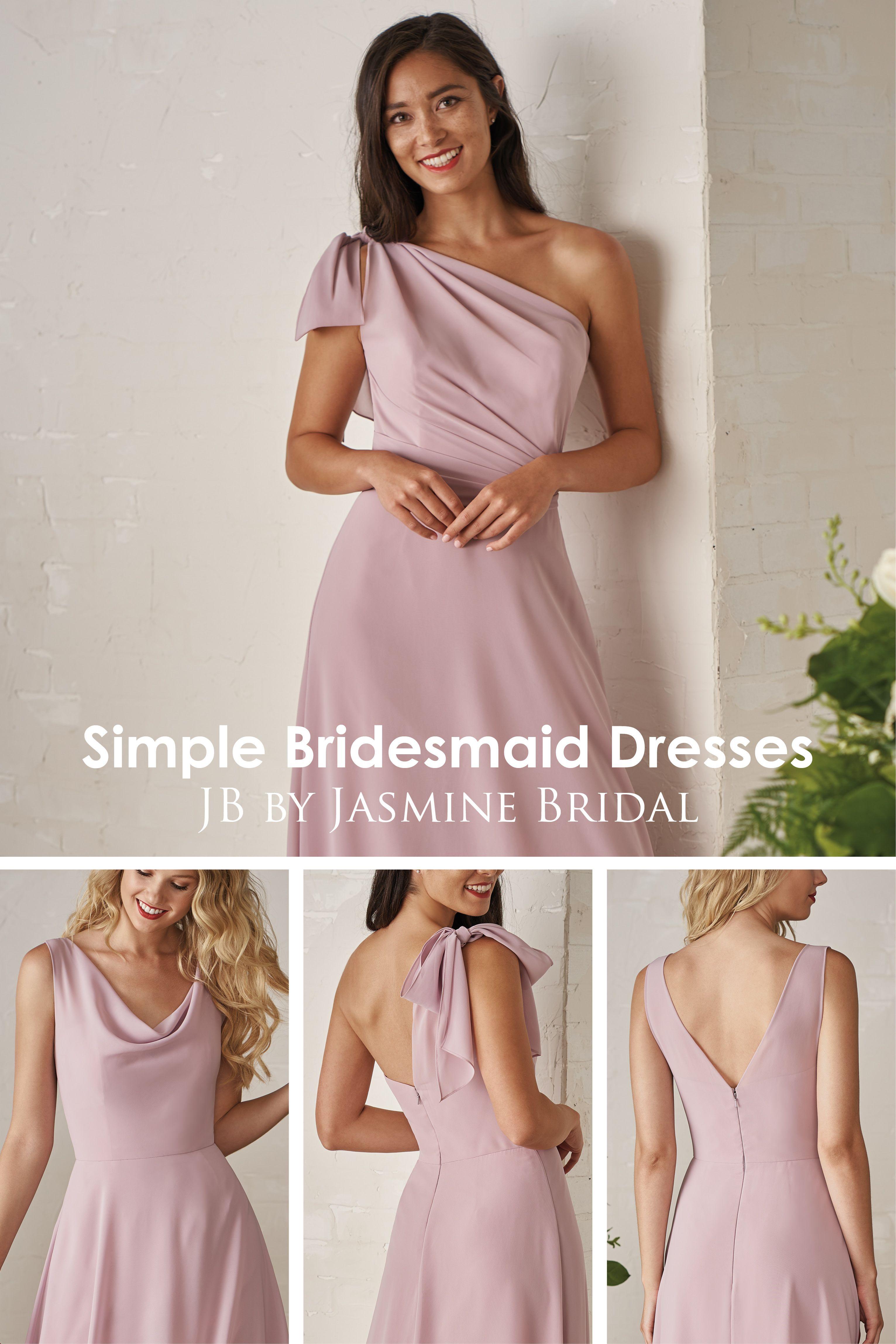 Jasmine bridal jb simple bridesmaid dresses long bridesmaid