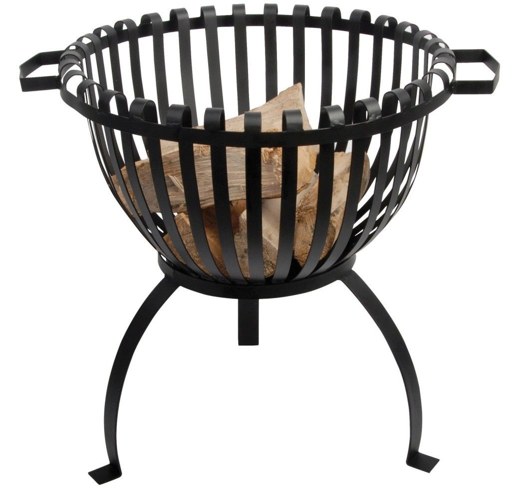Tulip Wrought Iron Fire Pit Fire Basket Wood Fire Pit Wrought