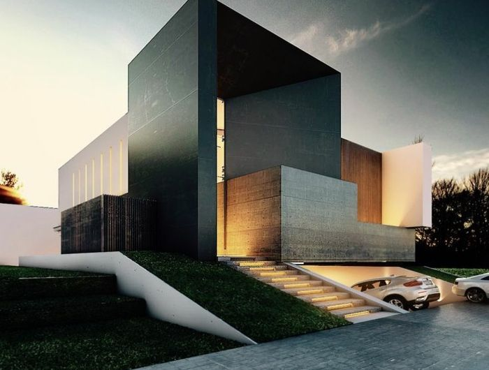 Le minimalisme en architecture contemporaine en 53 photos architecture modern villa design for Architecture contemporaine