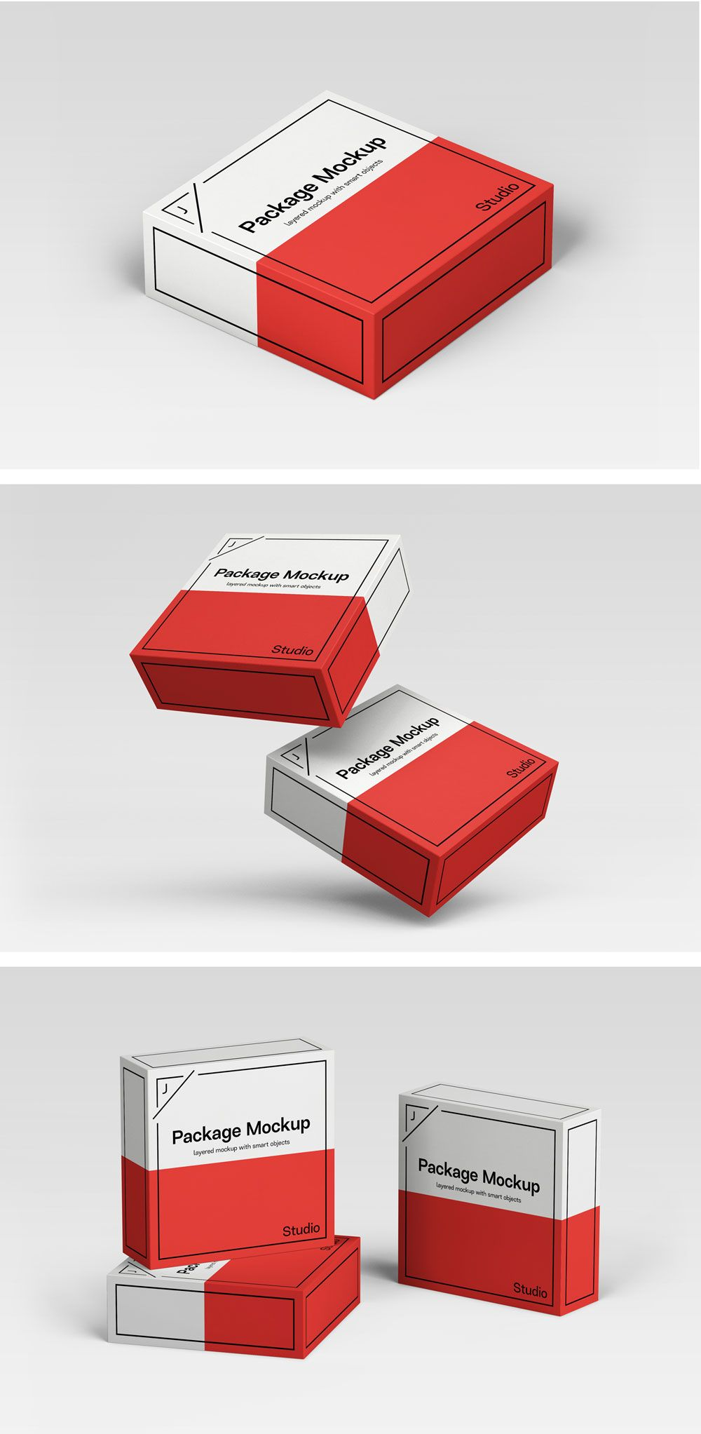 Download Package Box Mockup Scene Set Box Mockup Box Packaging Mockup