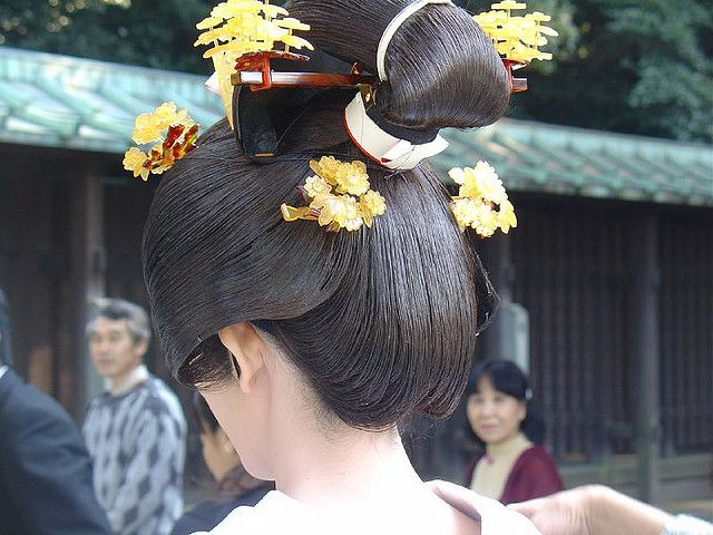 Japan  A traditional wedding hairstyle.