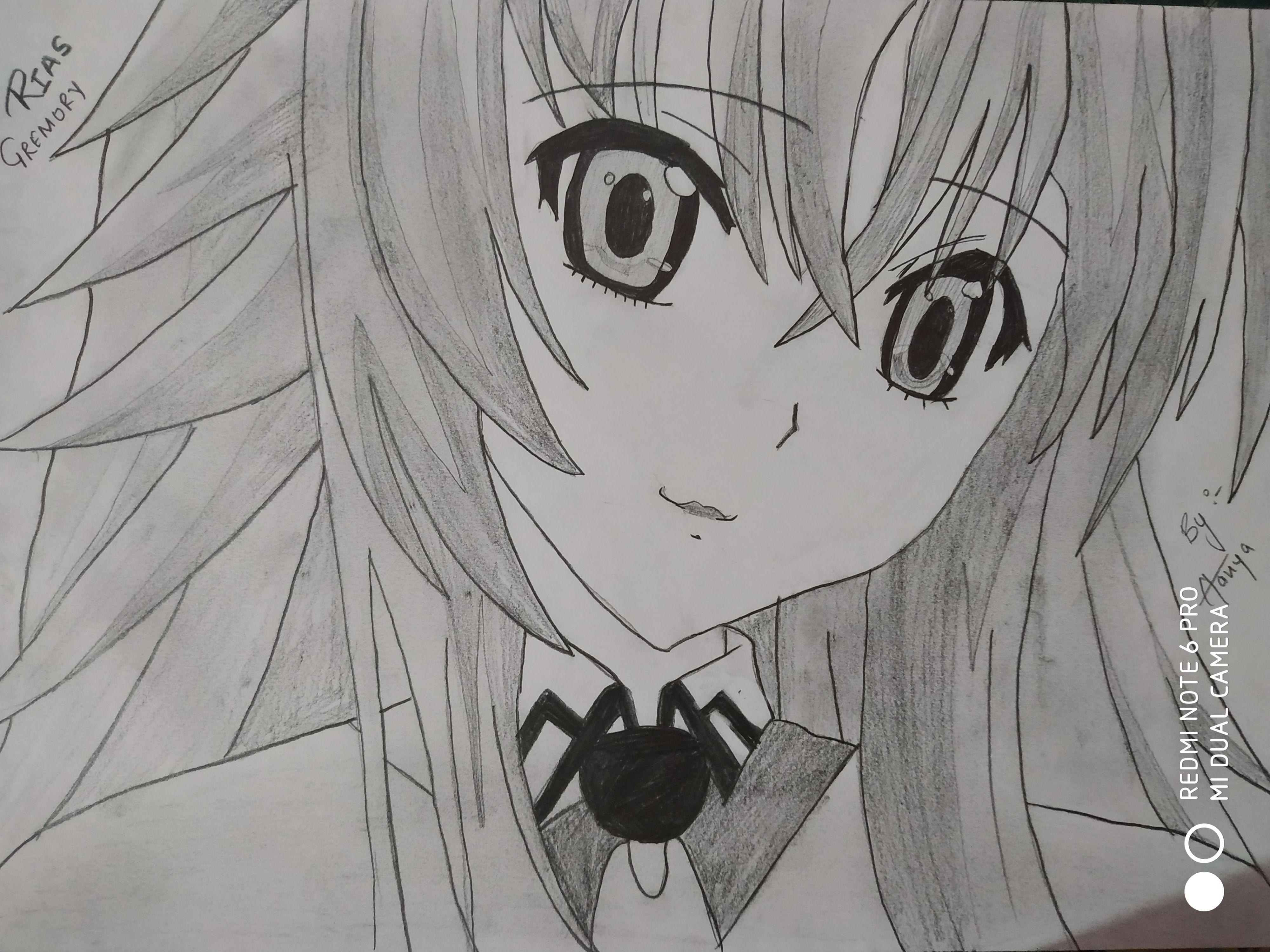 Rias Gremory Sketches, Art, Anime