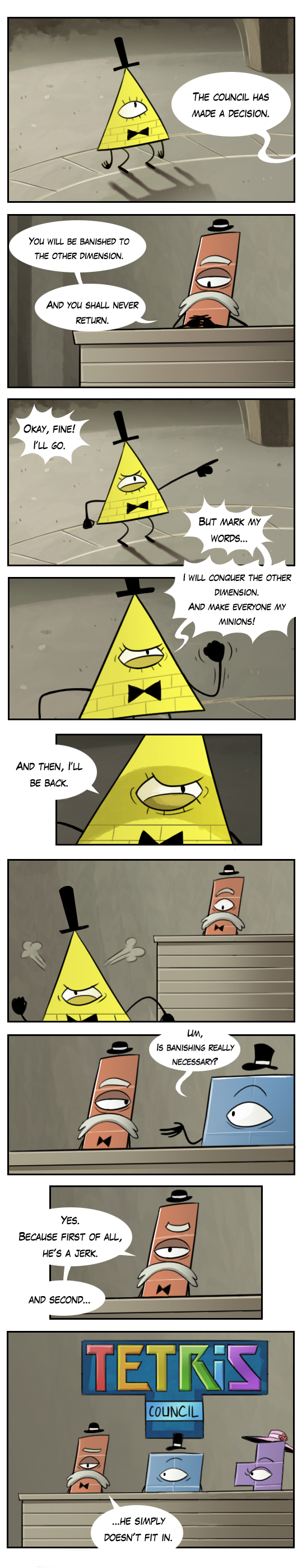 bill+cipher+comics   the origin of bill cipher by markmak fan art cartoons comics digital ...