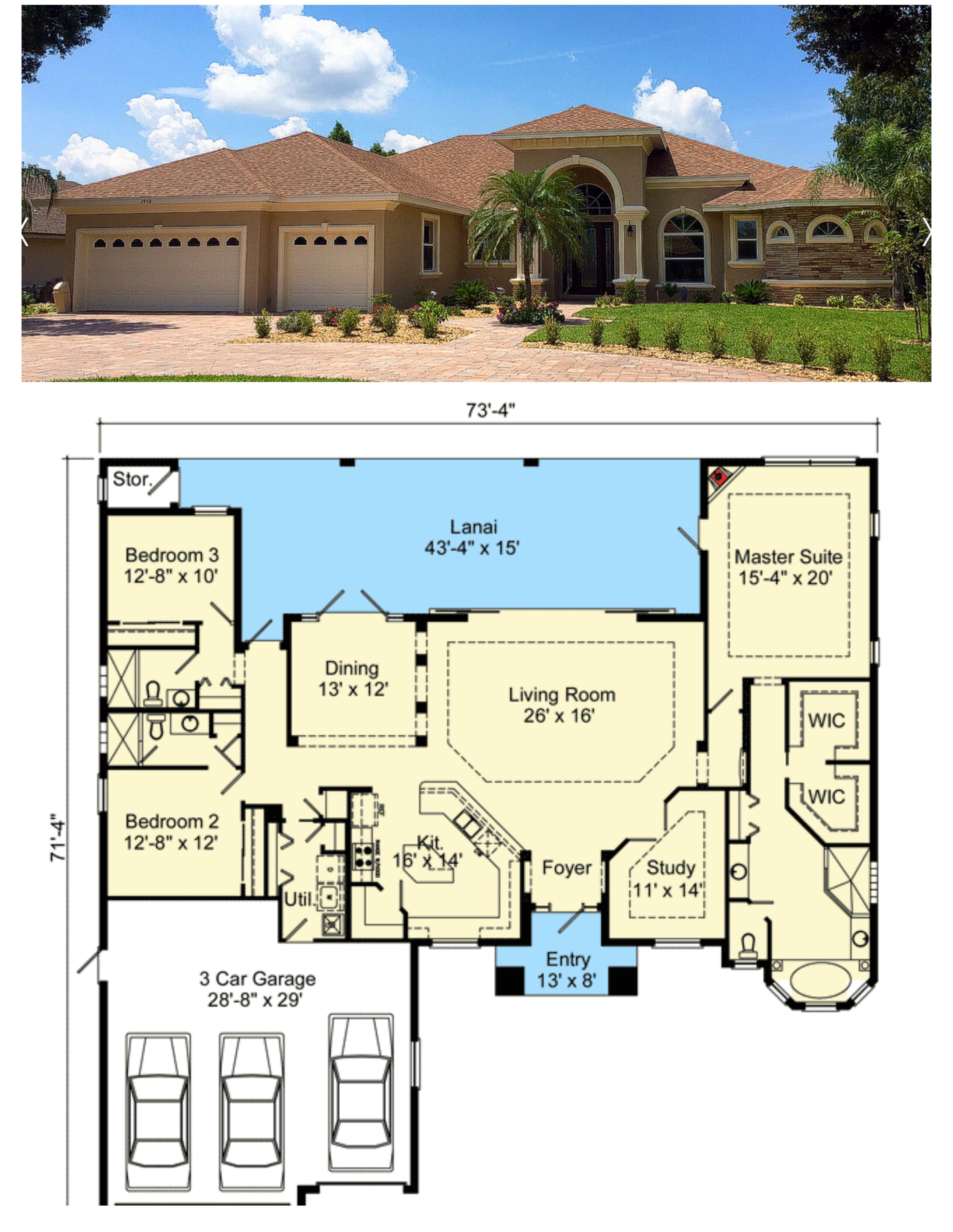 135 Sq Ft For Mediterranean Custom Home Oakleaf Model Mediterranean Homes Beautiful House Plans Mediterranean Style House Plans