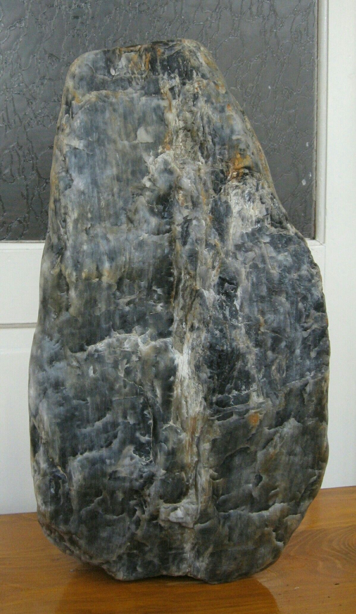 Grey Bluish Quartz From Cambrian Era Result Of A Volcanic