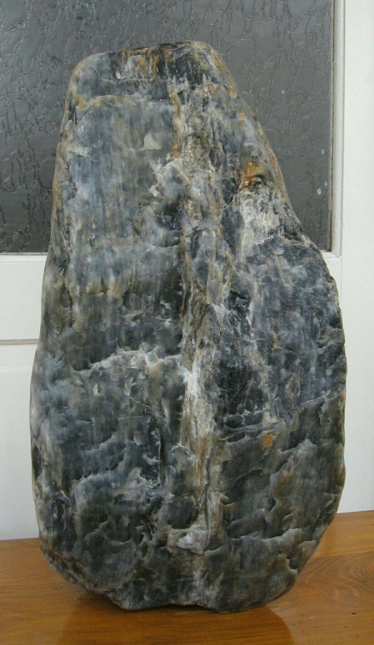 Grey Bluish Quartz From Cambrian Era Result Of A Volcanic