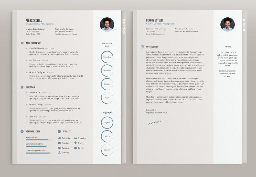 Free Minimal Cv Template Free printable resume templates