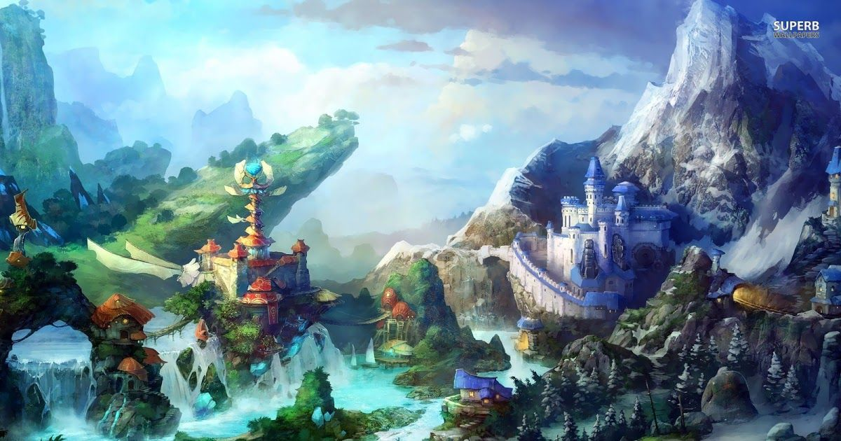 58 Fantasy Town Hd Wallpapers And Background Images However Fantasizing About Stuff Can Be Rather Beneficial As Experts Affirm Waterfall Town Fantasy Fantasi