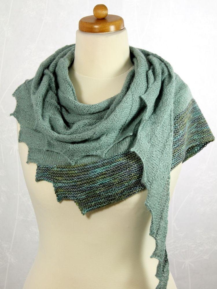 Wellentuch mit Zacken | Stricken und häkeln | Pinterest | Schals und ...