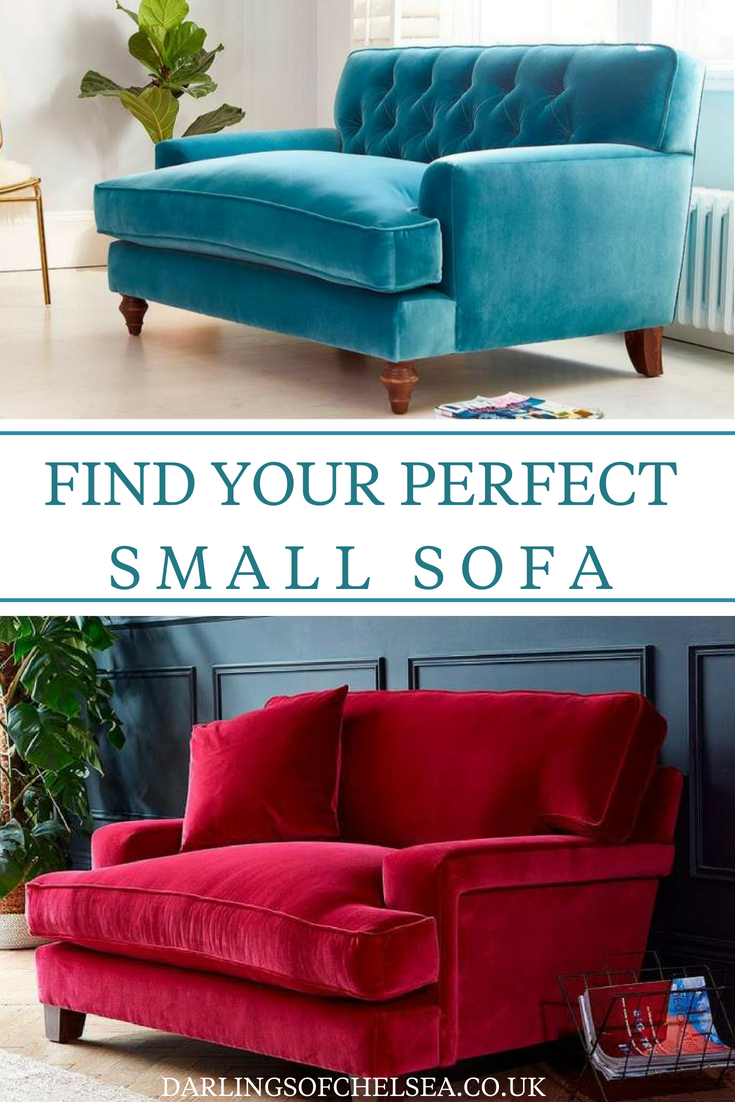 Have A Small Living And Need A Small Sofa No Need To Compromise On Luxury Style Or Design Small Sofa Sofas For Small Spaces Velvet Sofa Living Room
