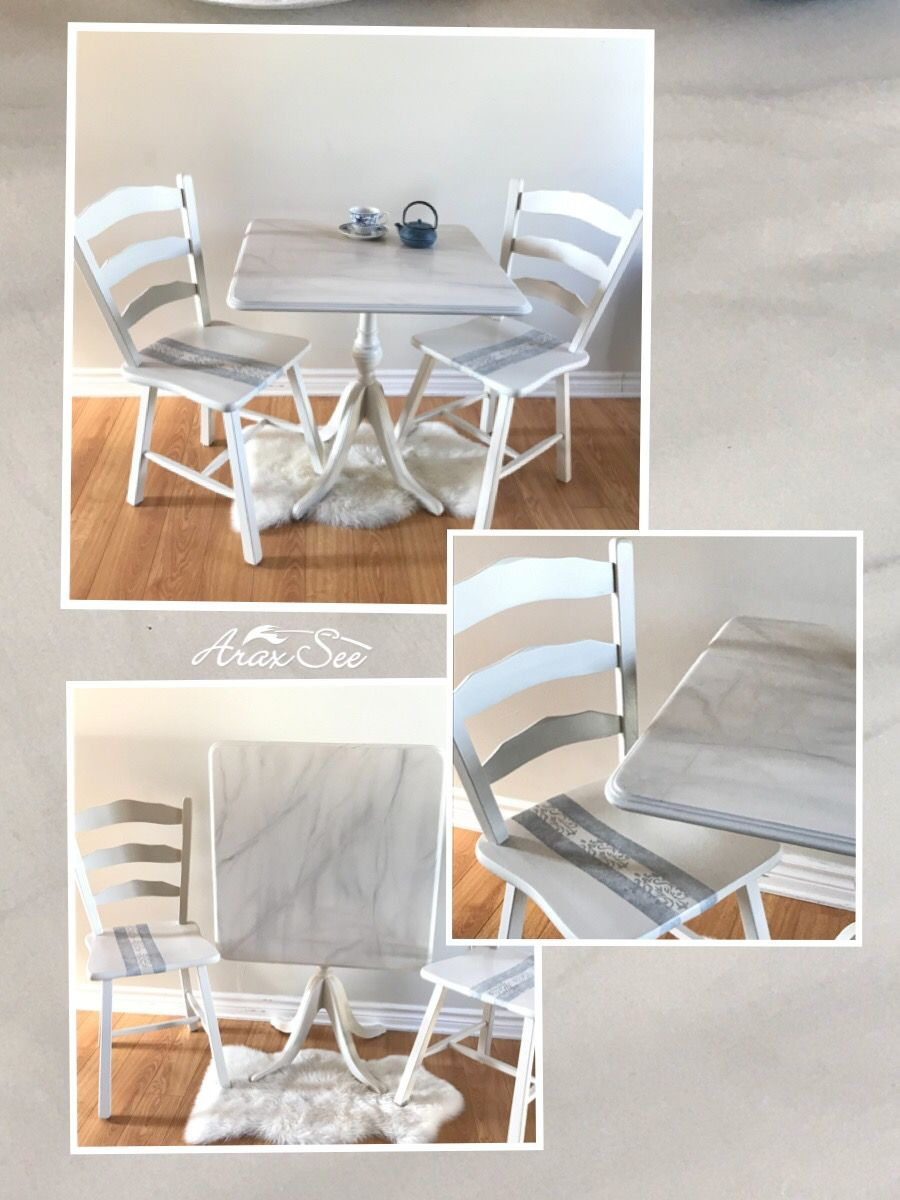 Foldable Table Old Furniture Painted Mocha Furnitures Chalk Paint