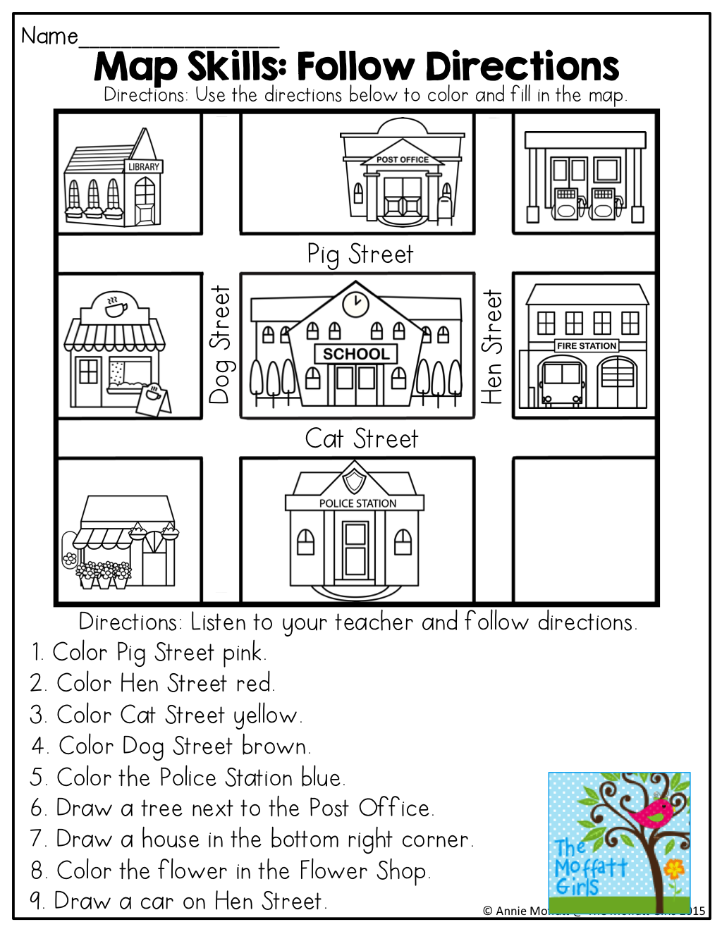 Basic Map Skills Details Rainbow Resource Center Inc Maps For Kindergarten Worksheets