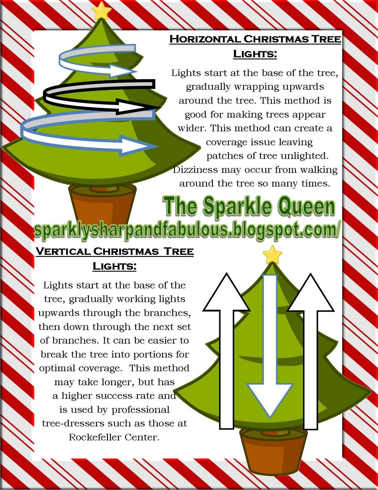 The Sparkle Queen Art Of Lighting A Christmas Tree Vertical Vs Horizontal