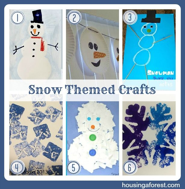 Snow Themed Crafts from Housing A Forest