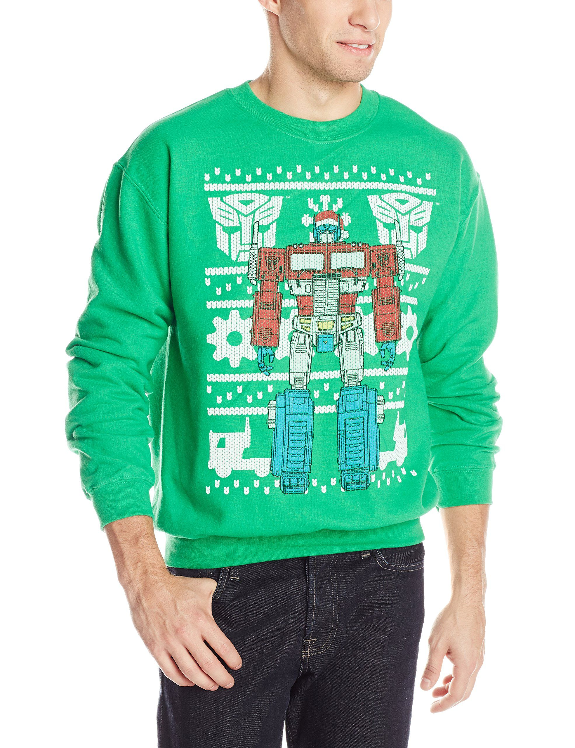 Transformers Men\'s Optimus Prime Ugly Christmas Sweater at Amazon ...