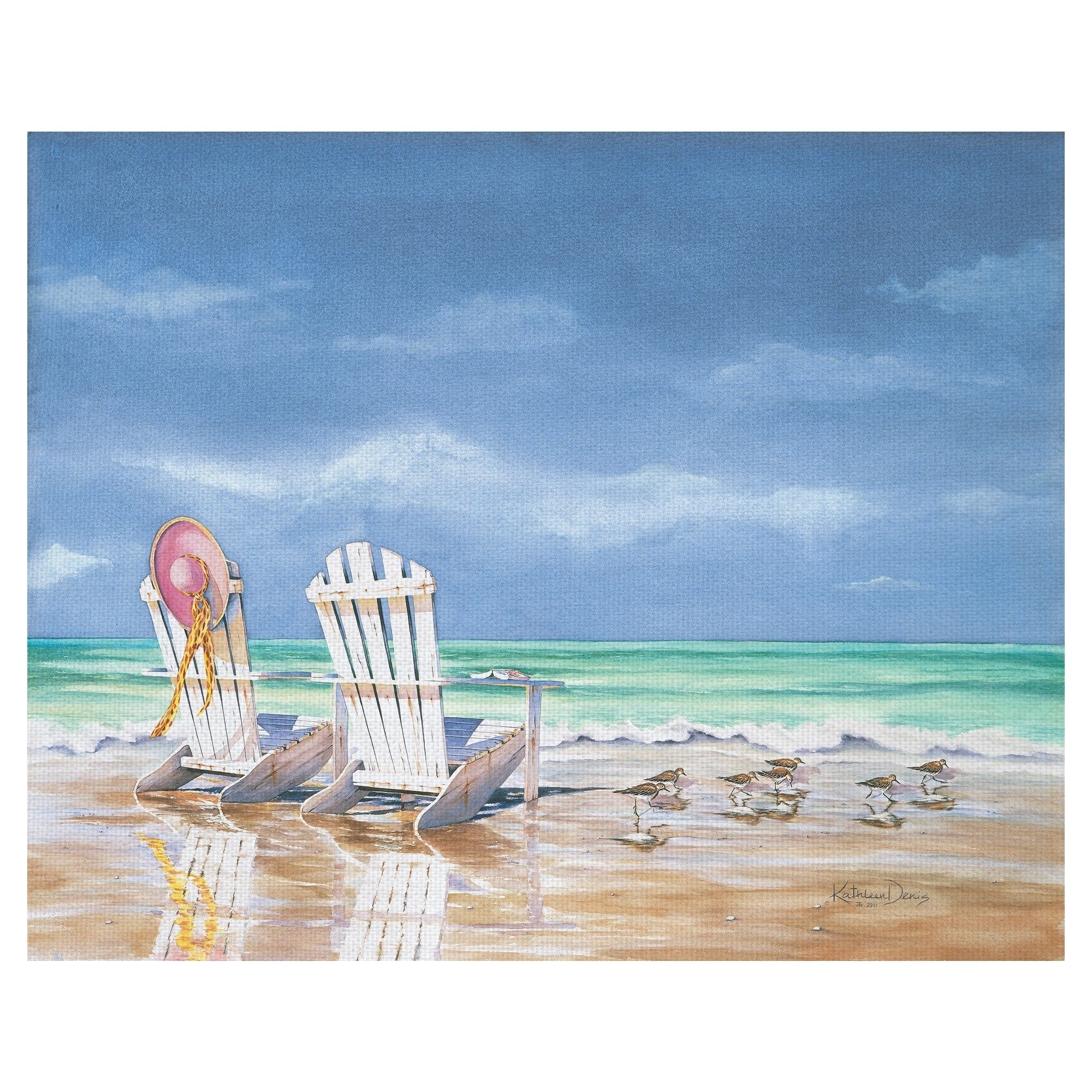 Masterpiece Art Gallery Calm Before Beach Chairs And Ocean Tide By