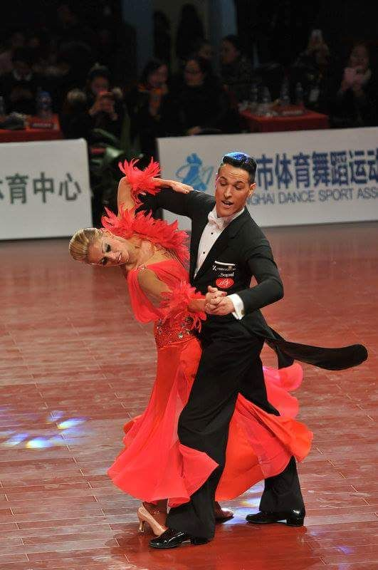 Simone Segatori and Annette Sudol - WDSF Grand Slam Standard Shanghai Dec 2015