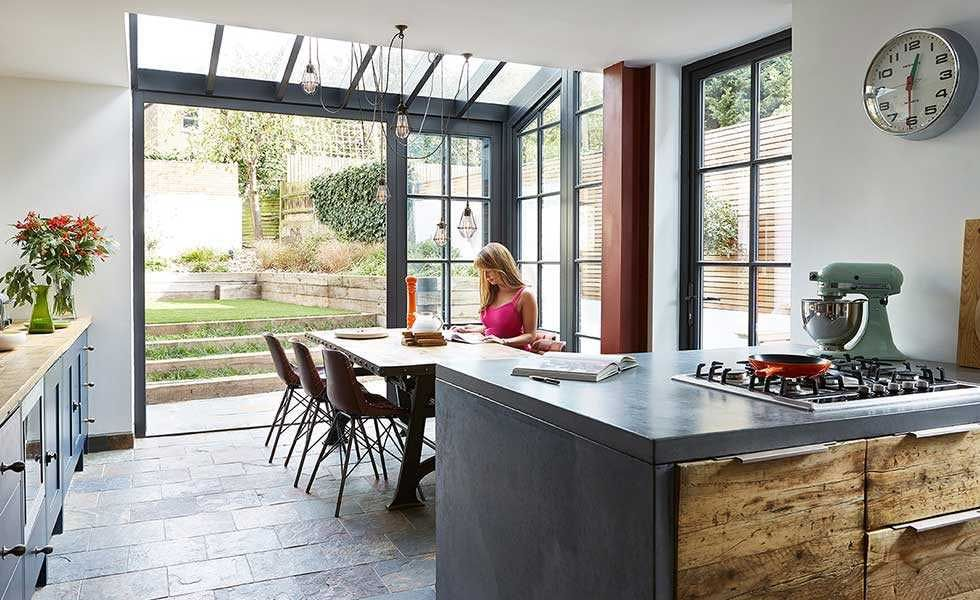 Charming Industrial Style Kitchen Attached To Edwardian Period Home